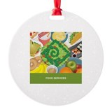 Cute Food service Round Ornament