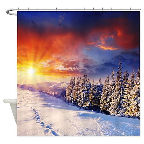 Gifts gt beautiful bathroom d 233 cor gt winter breeze shower curtain