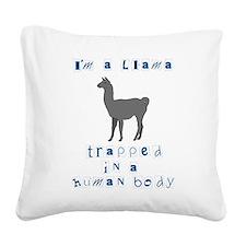 I'm a Llama Square Canvas Pillow