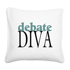 Debate Diva Square Canvas Pillow