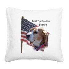 Unique Beagle Square Canvas Pillow