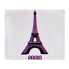Eiffel Tower 3D Throw Blanket