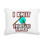 I Knit - Therefore I Rock Rectangular Canvas Pillo