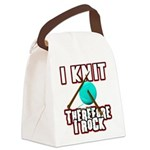 I Knit - Therefore I Rock Canvas Lunch Bag