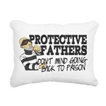 Protective Fathers Rectangular Canvas Pillow