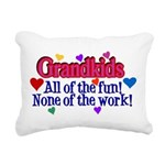 Grandkids - All the fun! Rectangular Canvas Pillow