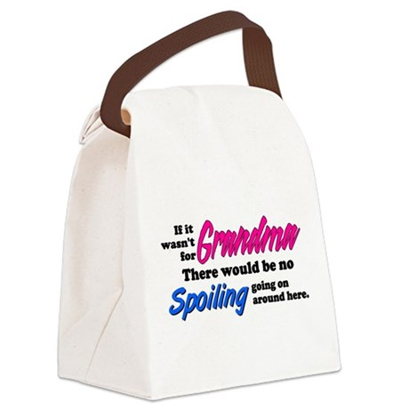 agrandmaspoil2.png Canvas Lunch Bag