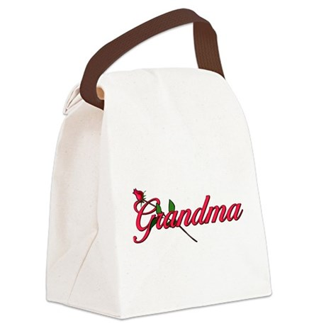 grandmarose.png Canvas Lunch Bag
