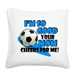 So Good - Soccer Square Canvas Pillow