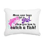 Move Over Boys - Fish Rectangular Canvas Pillow