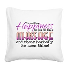 Happiness Massage Square Canvas Pillow