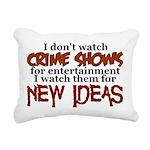 Crime Shows Rectangular Canvas Pillow