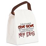 Crime Shows Canvas Lunch Bag