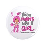 Fights Like a Girl 42.9 Breast Cancer 3.5&quot; Button