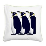 Penguins Square Canvas Pillow