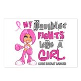 Fights Like a Girl 42.9 Breast Cancer Postcards (P