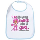 Fights Like a Girl 42.9 Breast Cancer Bib