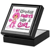 Fights Like a Girl 42.9 Breast Cancer Keepsake Box