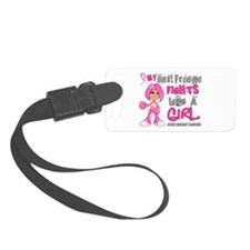 Licensed Fight Like a Girl 42.9 Luggage Tag