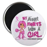 Fights Like a Girl 42.9 Breast Cancer Magnet