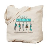 Senior Strut Logo with Models NCL Tag Tote Bag