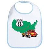 Route 66 With Red Hot Rod Bib