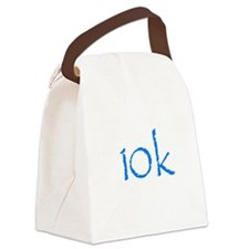10k.png Canvas Lunch Bag