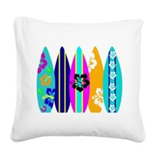 Surfboards Square Canvas Pillow