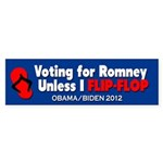 Vote for Barack Obama Sticker (Bumper)