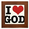 I LOVE GOD Framed Tile