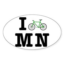 I Bike MN Decal