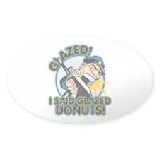 Police Glazed Donuts Sticker (Oval)