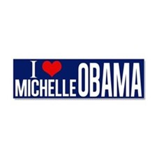 I Love Michelle Obama Car Magnet 10 x 3