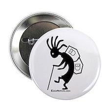 """Kokopelli Backpacker 2.25"""" Button (10 pack)"""