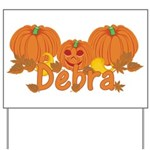 Halloween Pumpkin Debra Yard Sign