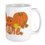 Halloween Pumpkin Diane Large Mug