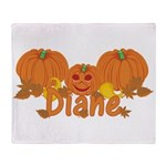 Halloween Pumpkin Diane Throw Blanket