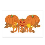Halloween Pumpkin Diane Postcards (Package of 8)