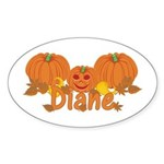 Halloween Pumpkin Diane Sticker (Oval)