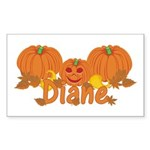 Halloween Pumpkin Diane Sticker (Rectangle)