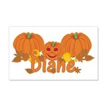 Halloween Pumpkin Diane 20x12 Wall Decal