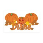 Halloween Pumpkin Diane 35x21 Wall Decal
