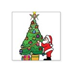 Santa and our star Square Sticker 3