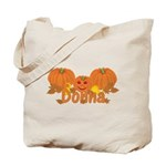 Halloween Pumpkin Donna Tote Bag