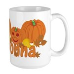 Halloween Pumpkin Donna Large Mug
