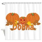 Halloween Pumpkin Donna Shower Curtain