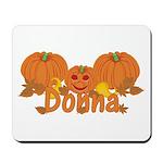 Halloween Pumpkin Donna Mousepad