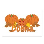Halloween Pumpkin Donna Postcards (Package of 8)