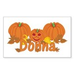Halloween Pumpkin Donna Sticker (Rectangle)