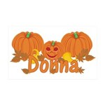 Halloween Pumpkin Donna 35x21 Wall Decal